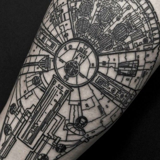 Detail shot - Millennium falcon by @alex_arnautov @a3metric Kiev Ukraine