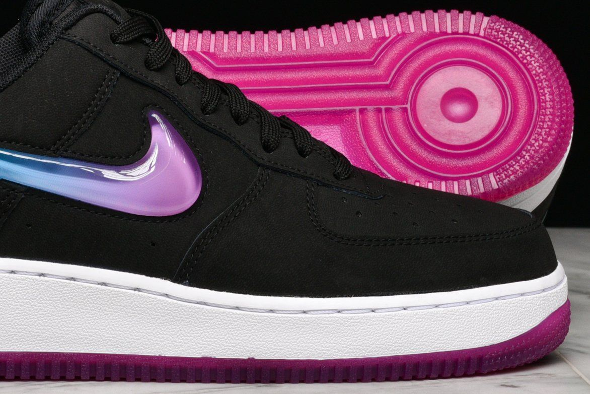 "AIR FORCE 1 '07 PRM 2 ""JELLY SWOOSH"" BLACK / ACTIVE"