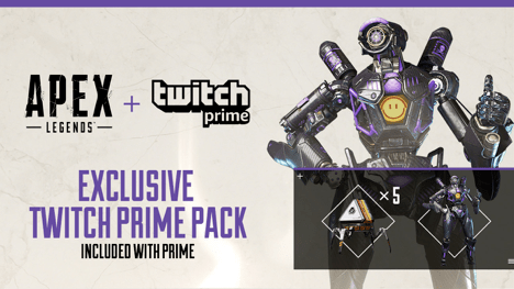 Free Apex Legends Skin And Loot Available With Amazon Twitch Prime Twitch Prime Twitch Apex
