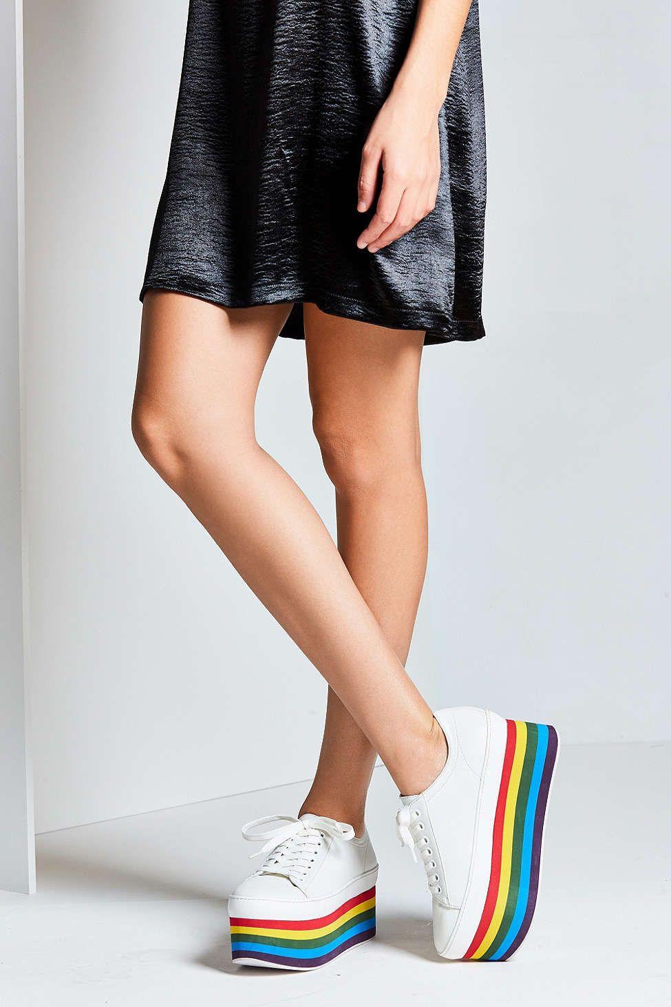 7bc405197f8 Jeffrey Campbell Rainbow Platform Sneaker | K läder | Kläder och Läder