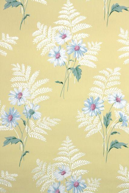 1940s Floral Vintage Wallpaper | Vintage Wallpaper Love ...