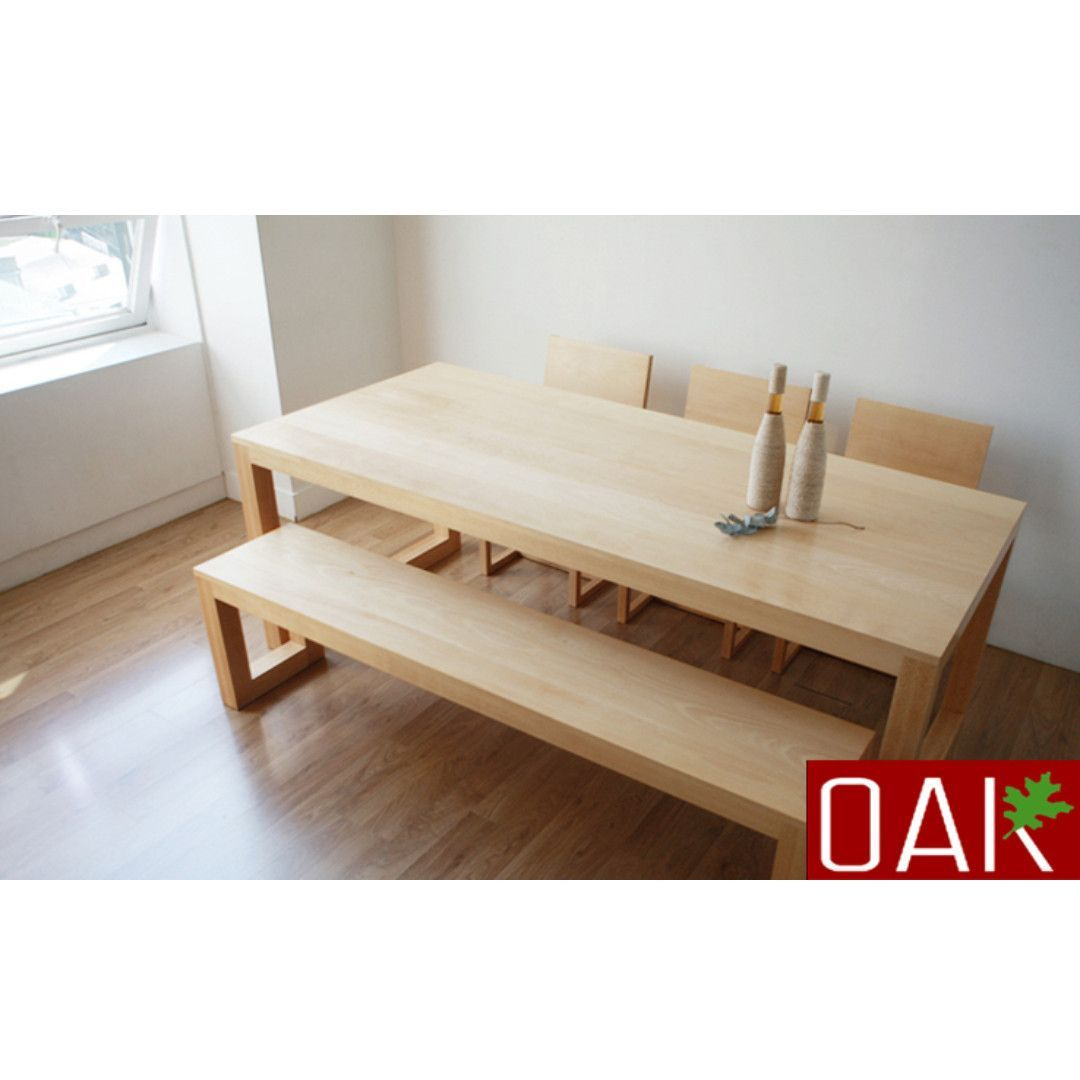 Modern Minimalist Japanese White Oak Logs Chair Combination Dining