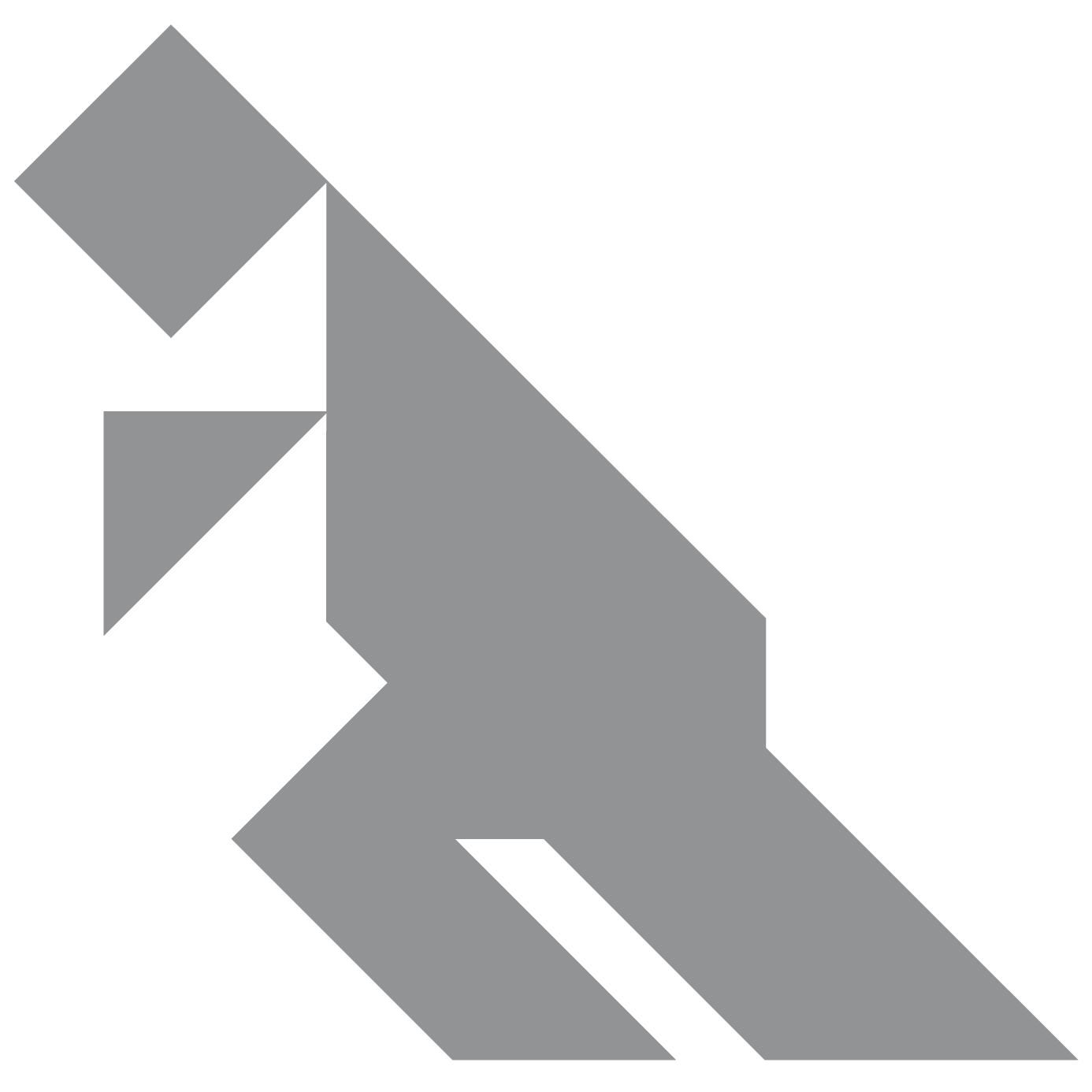 Tangram Dinosaur Shape And Solution