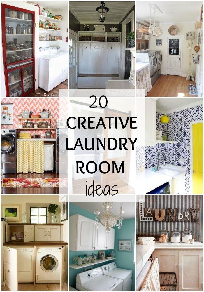 Simple Farmhouse Laundry Room