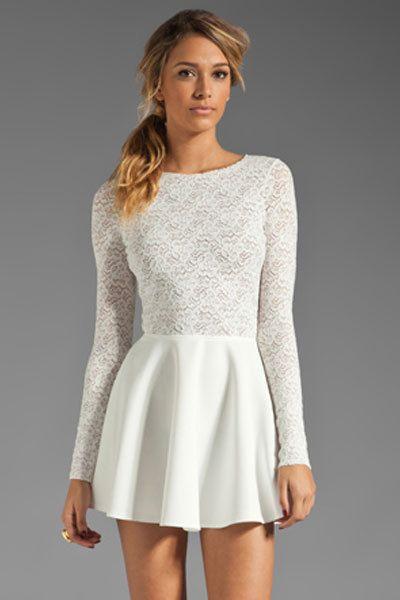 Avery White Cascading Princess for Women long sleeve white open ...