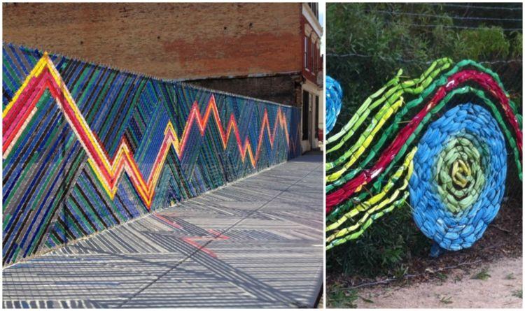 deko-gartenzaun-metallnetz-weben-bunt-plastik-stoff | Haus & Garten ...
