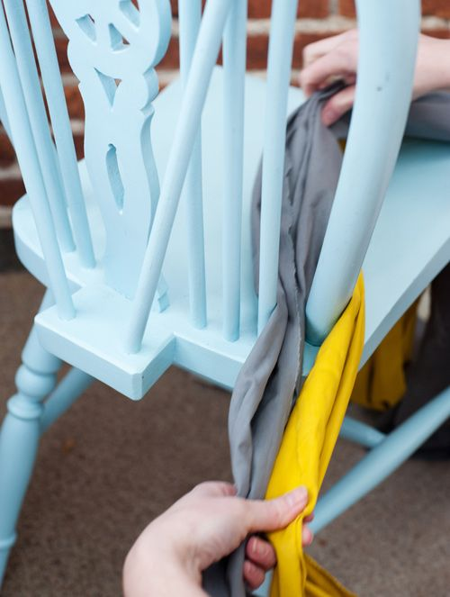 Diy Project: Friendship Bracelet Chevron Chair Cushion
