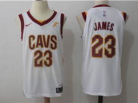 746a6f17f Cleveland Cavaliers  23 LeBron James White Authentic Jersey