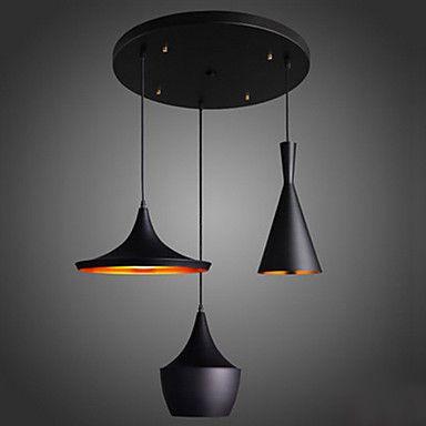 MAX 60W Lampe suspendue , Contemporain Plaqué Fonctionnalité for - lustre pour salle a manger