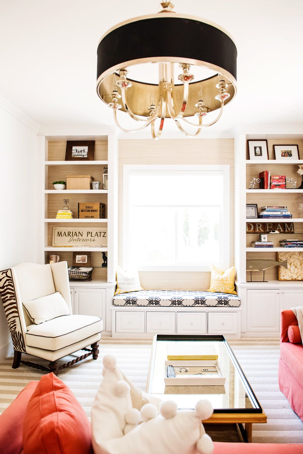 Oversized Chandelier For Office Remodel By Savvy Interiors In San