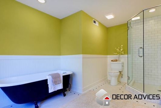 yellow white wall design for bathroom Choose The Right Paint For ...