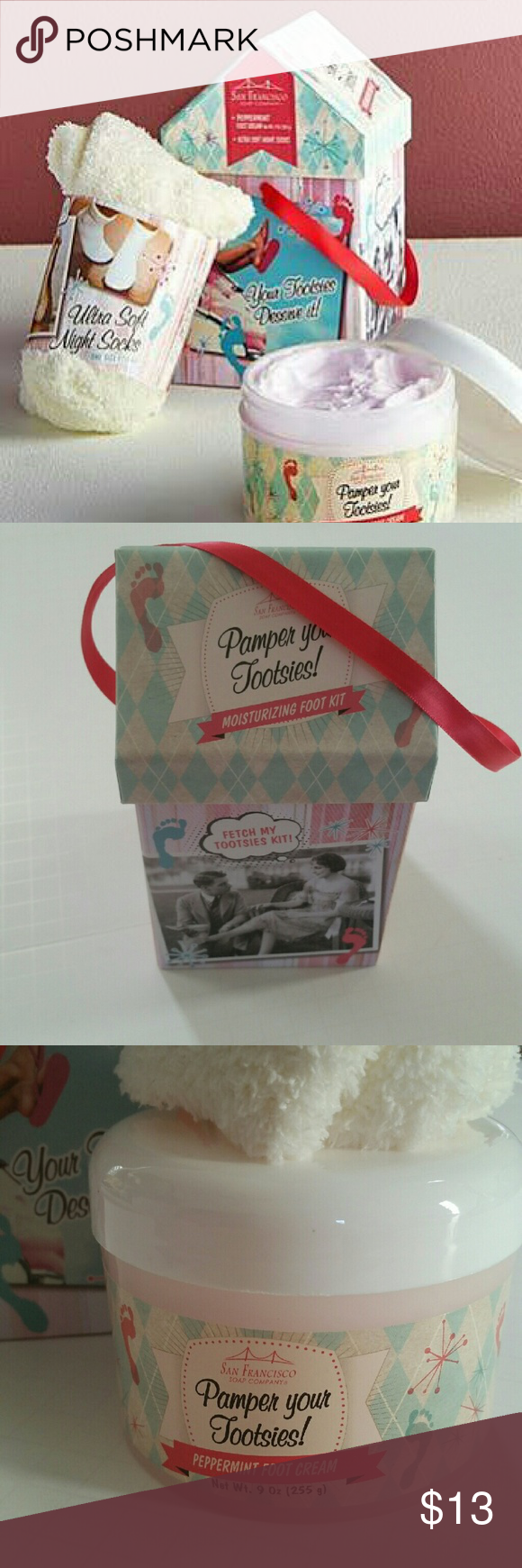 Pamper your tootsies gift set nwt Peppermint scent, Gift