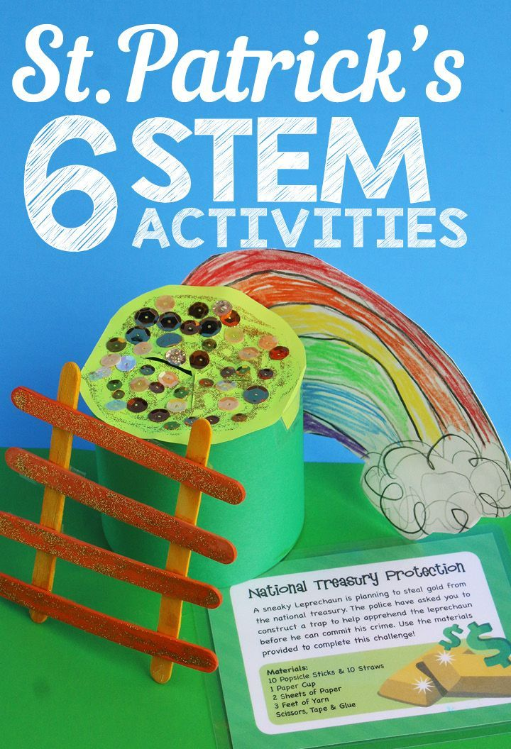 St. Patrick's Day STEM Activities Task Cards (March) #stemactivitieselementary