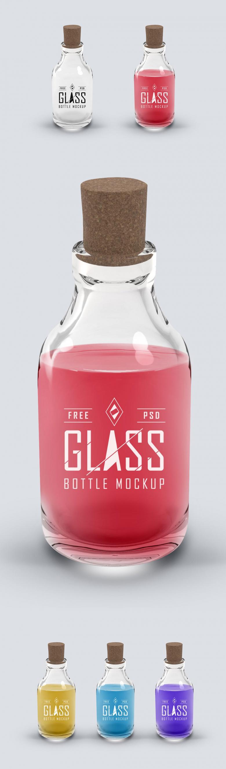 Glass Bottle Psd Mockup The Creative Feed Bottle Glass Bottles Bottle Mockup