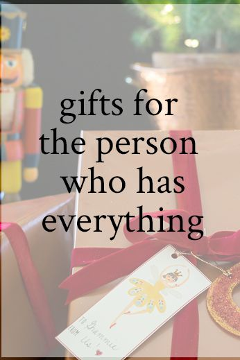 Gifts for the Person Who Has EVERYTHING | 80th birthday gifts, 60th birthday gifts, Christmas ...