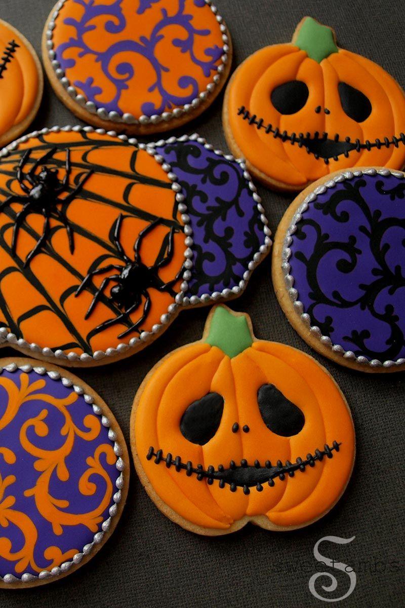 Halloween Cookies - Jack Skellington Jack O'Lanterns #halloweencookiesdecorated
