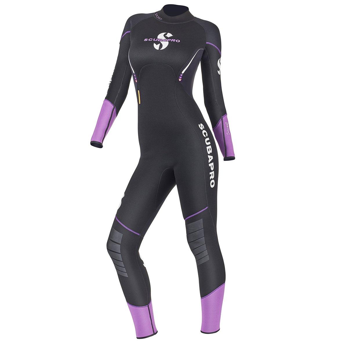 Black//White Scubapro Hybrid Steamer Front Zip 3mm Womens Sleeveless Wetsuit