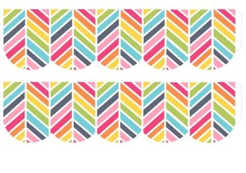 photograph relating to Free Printable Bulletin Board Borders Template named Cost-free Rainbow Herringbone Bulletin Border Body Printable