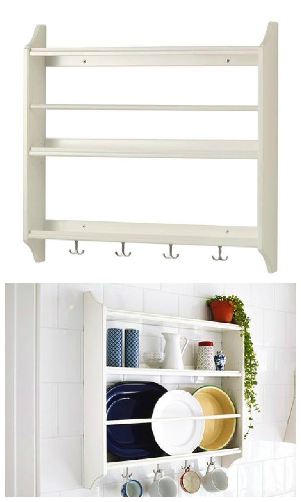 STENSTORP Plate shelf, white | Küche