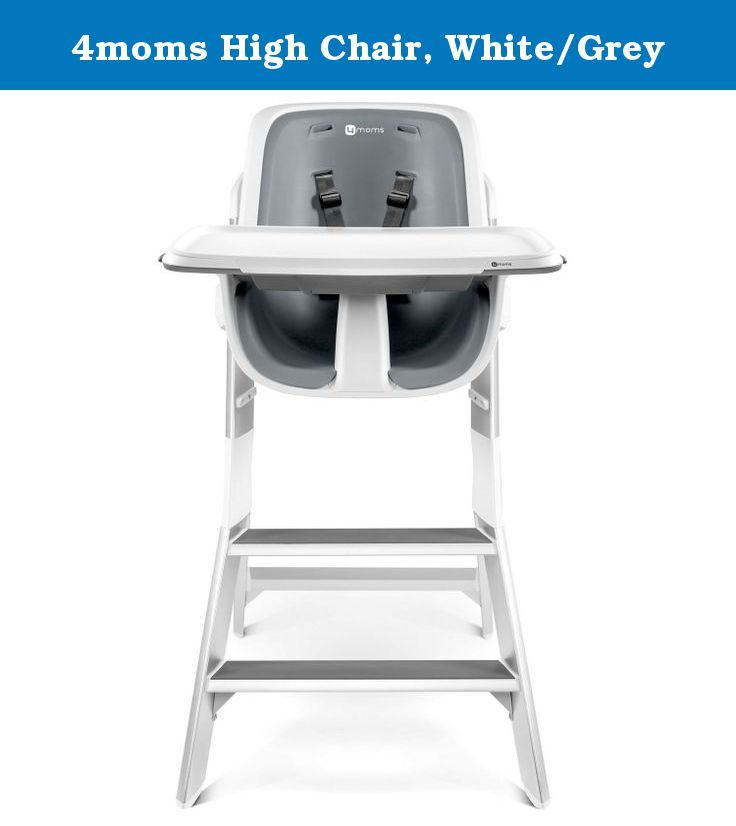 4moms High Chair White/Grey. Traditional high chair trays are tricky - you  sc 1 st  Pinterest & 4moms High Chair White/Grey. Traditional high chair trays are ...