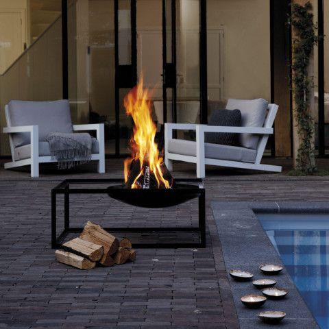 slide feuerschale zum eleganten grillen oder als feuerstelle verwendbar. Black Bedroom Furniture Sets. Home Design Ideas