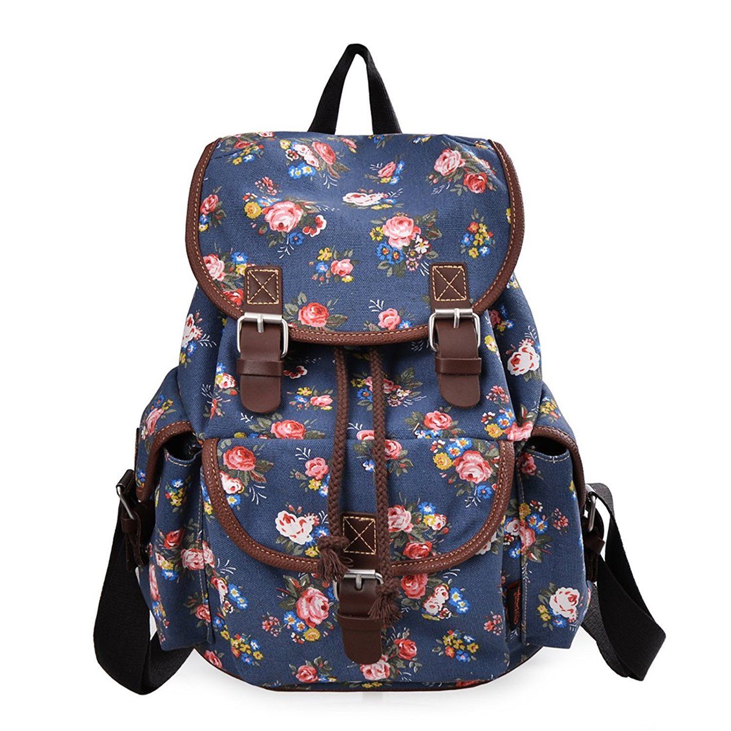 ae4f3187e2be Epokris Teen Girls School Bookbag Rucksack Casual Daypack Floral Backpack  163 -- For more information