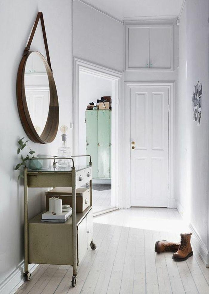 amnagement hall d entre maison styles entre scandinave et vintage avec meuble roues - Amenagement Hall D Entree Maison