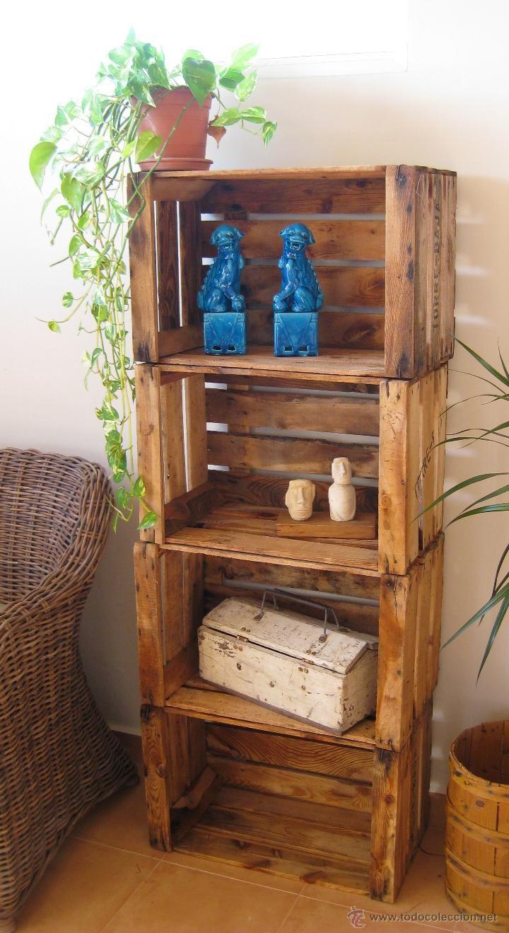 79 estanteria libreria dise o tipo decoracion industrial - Cajas para estanterias ...