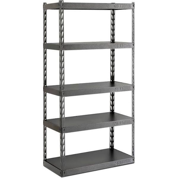 Gladiator EZ Connect Rack With Five Shelves, Black