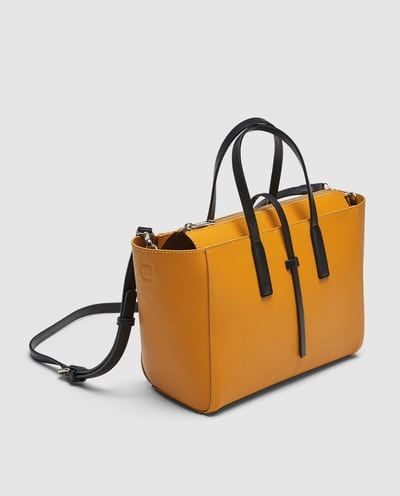 0349f7b4c56 MINI TOTE BAG WITH CONTRASTING HANDLES-View all-BAGS-WOMAN | ZARA United  States
