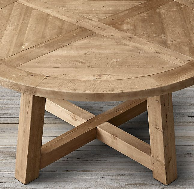 Salvaged Wood Beam Round Dining Table Round Wood Table