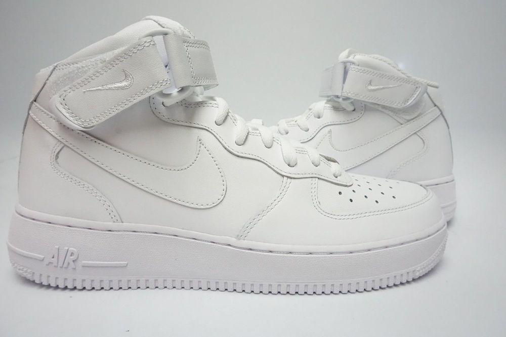 03a067d431d1a0 315123-111) men s nike air force 1 mid  07 white white   Nike air ...