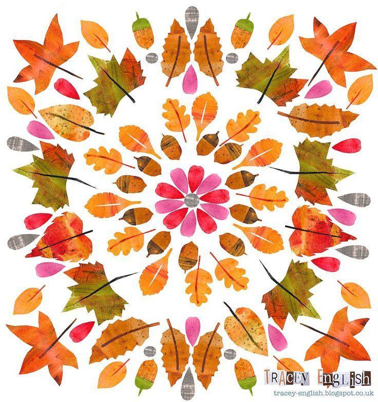 Blatter Mandalas Legen Oder Zeichnen Herbst Basteln Autumn