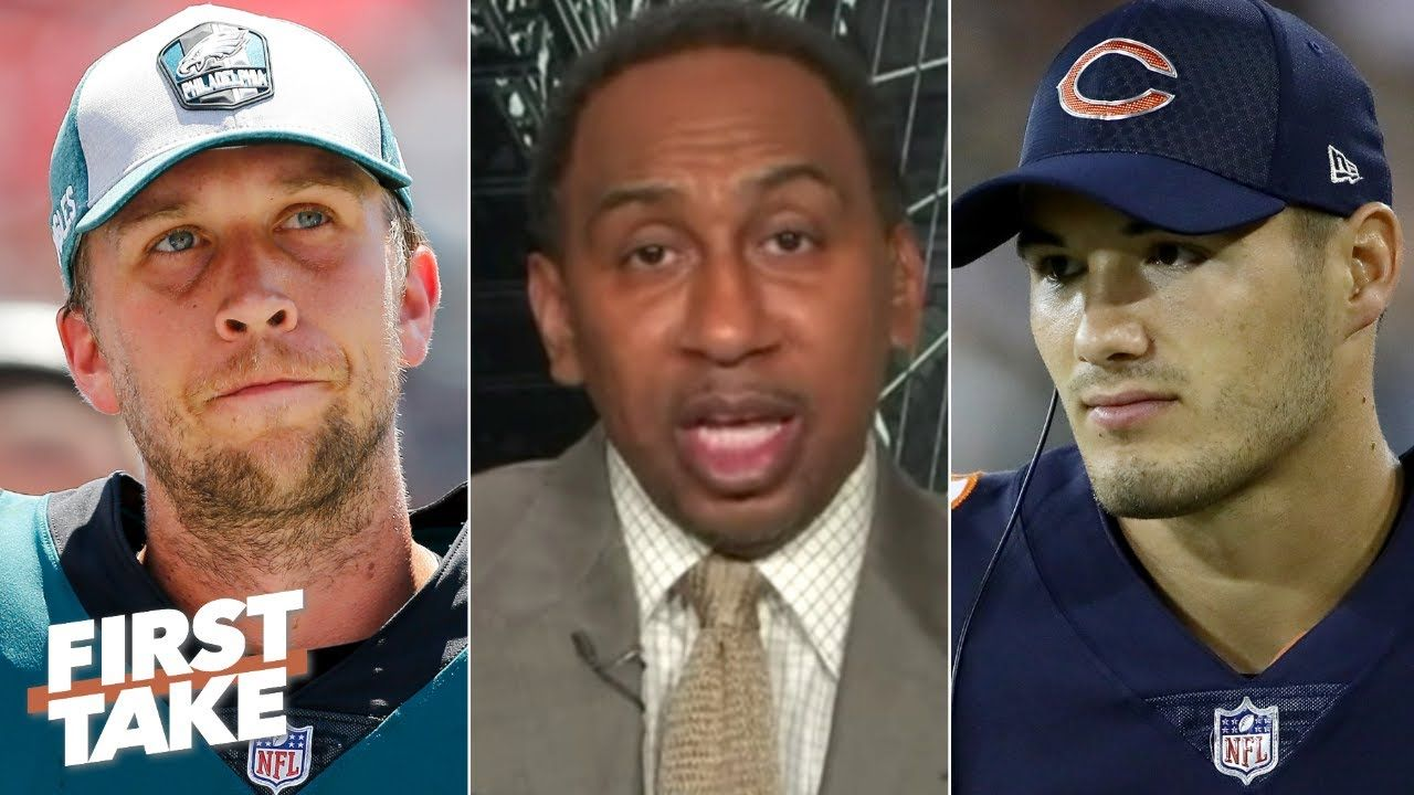 Nick Foles Will Replace Mitchell Trubisky As The Bears Starting Qb Stephen A First Take Youtube In 2020 Nfl Max Kellerman Nick