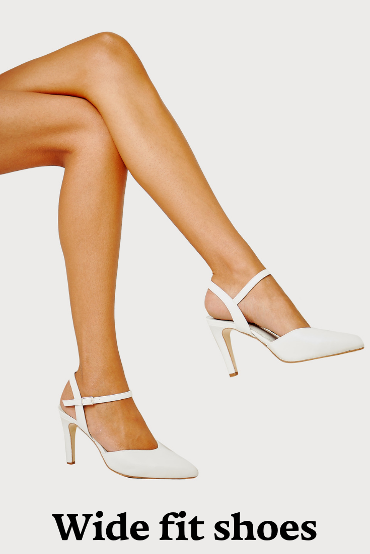 Wide fit wedding shoes, Wide fit