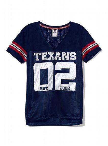 victoria's secret houston texans jersey
