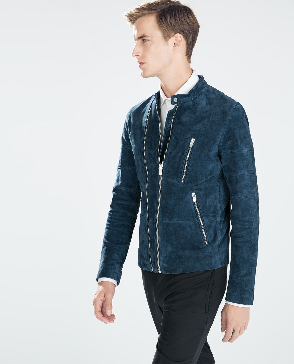 Image 1 of DOUBLE ZIP SUEDE JACKET from Zara Jackets
