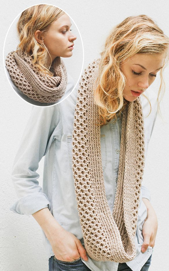 Free Knitting Pattern For Honey Stitch Cowl This Infinity Scarf Is