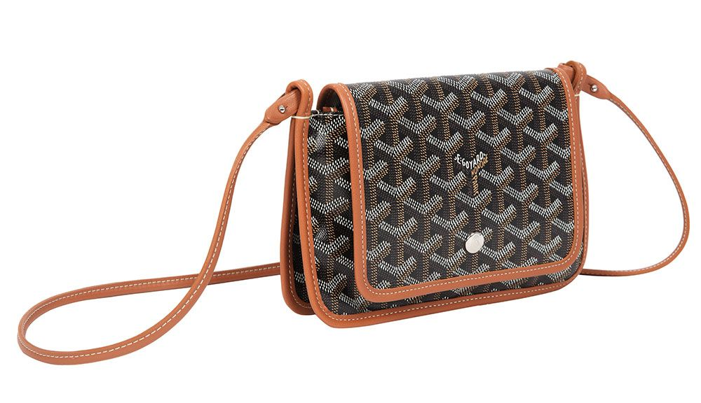 b59d56dd8930 Goyard Releases Three New Bag Designs Just in Time for Spring 2018 Goyard  Plumet Crossbody Wallet $1,080 in Classic Colors (Black and Black/Tan)
