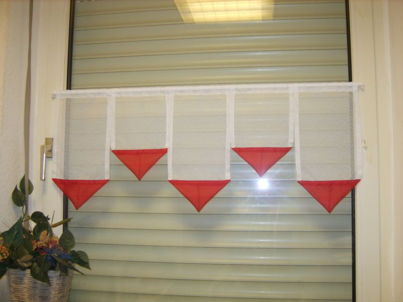 Scheibengardine 1m Sp Rot Langen Ca 40 30 40 30 40cm Gardinen Scheibengardinen Scheibengardine Gardinen Scheibe