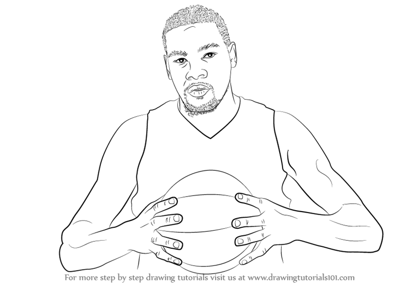Learn How To Draw Kevin Durant Basketball Players Step By Step