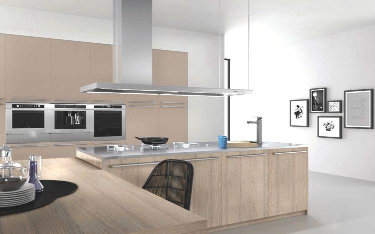 Charming Cucina Kyton, Bancone Snack Di Spessore 6 Cm In Finitura Rovere Cipria  #cucinedesign #