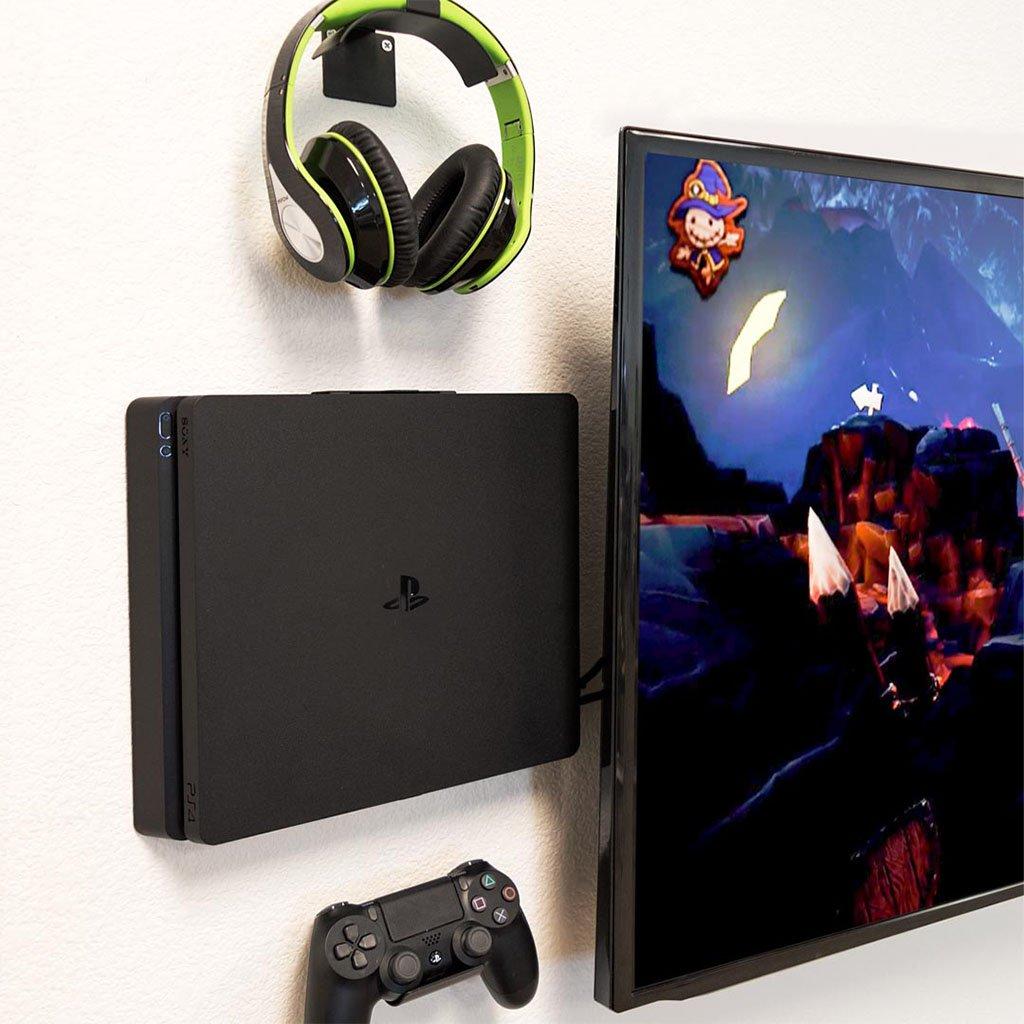 Hideit 4s Playstation Ps4 Slim Mount Wall Mounted Tv Playstation Ps4 Wall Mount