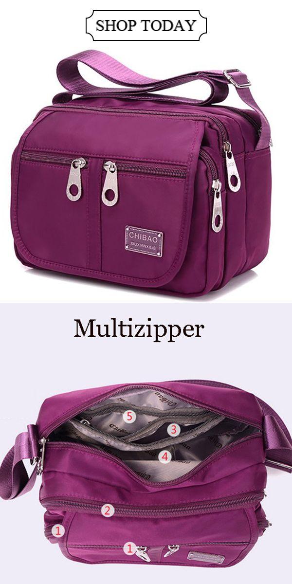 UP TO 49% OFF--Multi-pocket Waterproof Nylon Crossbody Bag  Square Shoulder  Bag   To Try in 2015   Pinterest 9973ee2ec3