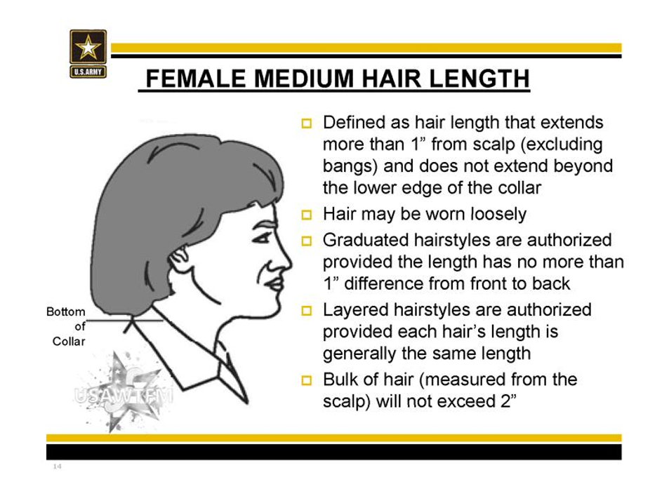 Authorized Female Hairstyles Army Hair Regulations Military Hair Army Haircut