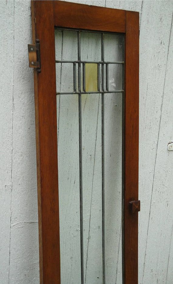 REDUCED Antique Craftsman Prairie Mission Arts & Crafts Leaded Glass ...