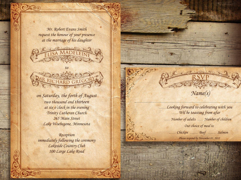 cinderellthemed wedding scroll invitations%0A Romantic Scroll Wedding Invitations