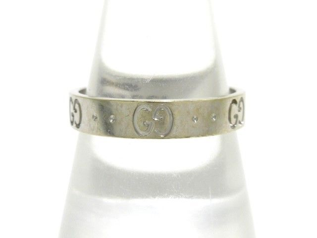 e92c053db Auth GUCCI Icon Ring 18K White Gold Ring #18 (eBay Link) | Fine ...
