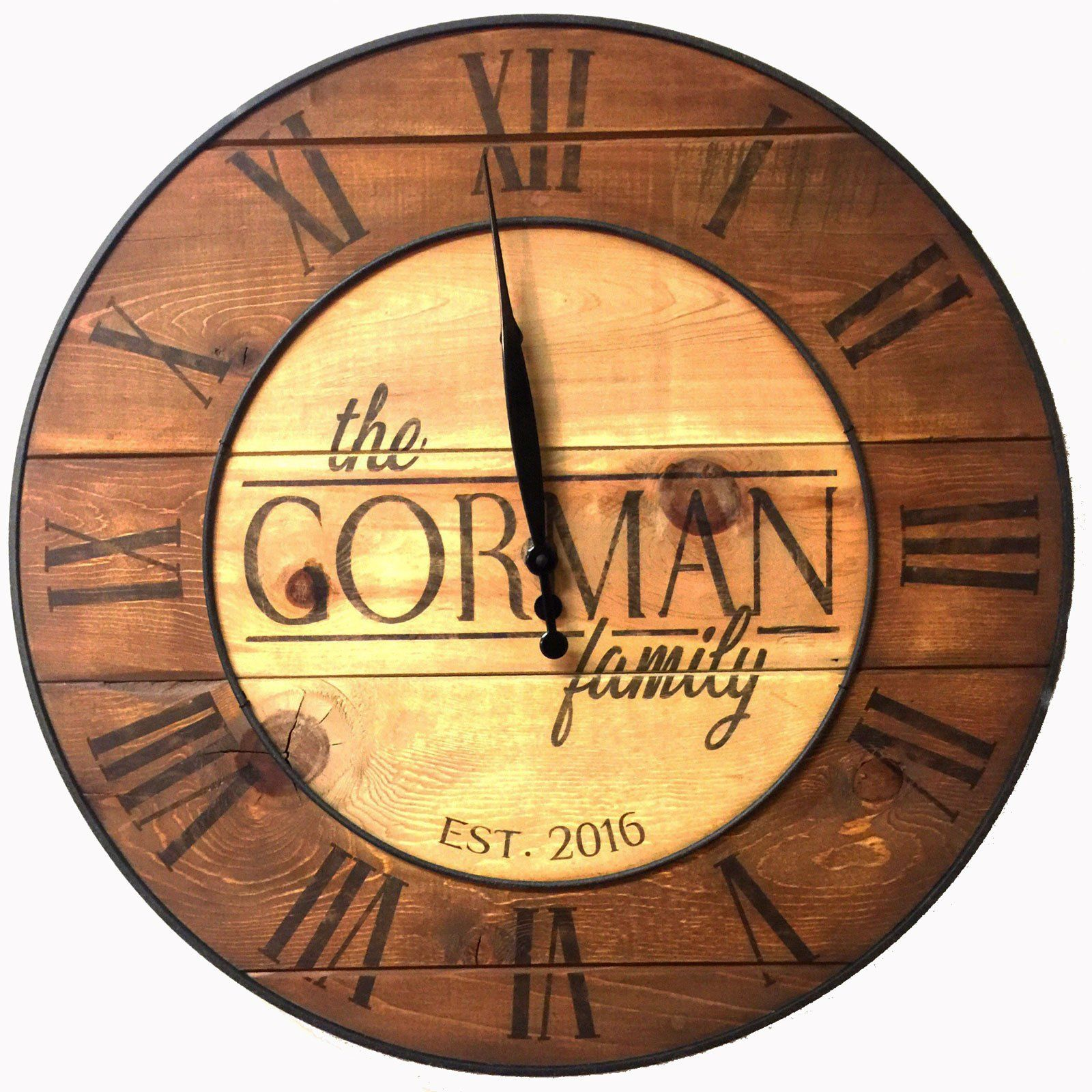 Custom Rustic Country Reclaimed Wood Wall Clock | Products ...