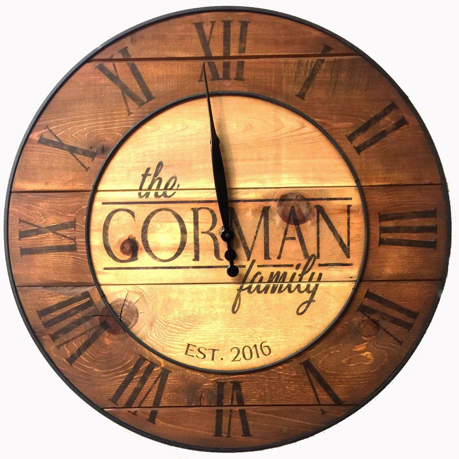 Custom Rustic Country Reclaimed Wood Wall Clock
